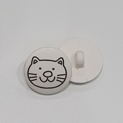 Cat / Matte White / plastic