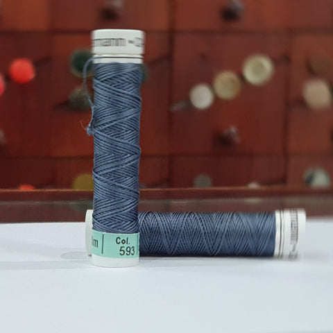 Airforce Blue #593 - Gutermann Buttonhole Silk Twist / 10m spool