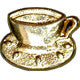 Gold / Cup and Saucer / Shiny