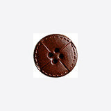Brown / Quarters / Matte Leather Button