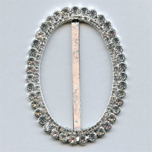 Silver and Diamante Buckle