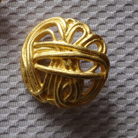Gold / Filigree / Matte Button