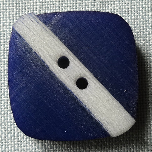 Blue / Stripe / Matte Button