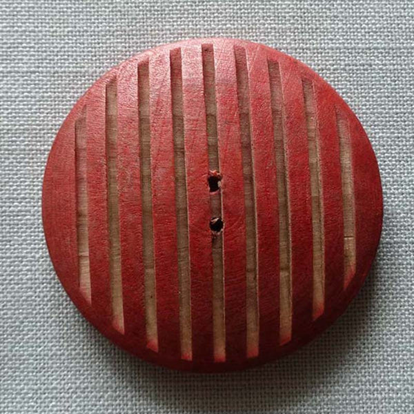 Wooden Red / Slotted / Matte Button
