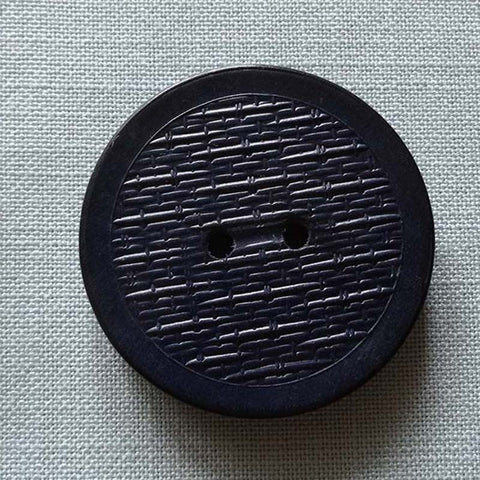 Blue / Textured / Flat / Matte Wooden Button