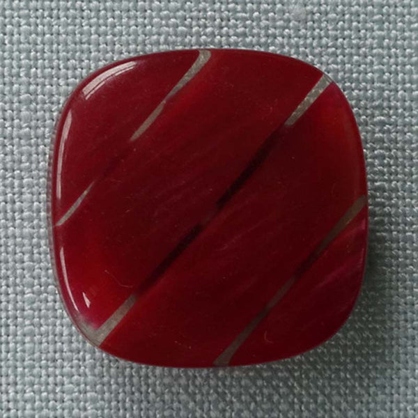 Red / Flat / High Gloss / Striped Button