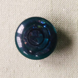 Green Polyester shank Button with Spiral Colours