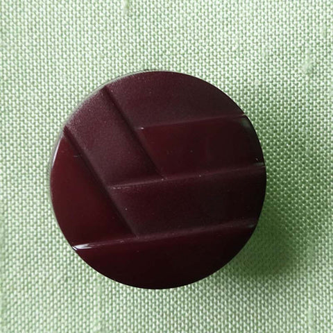 Button - Red (Burgundy) / Woven / Matte & Shiny