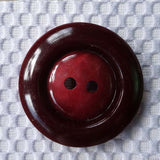 Vintage Casein Red (Burgundy) /  Rimmed / Matte Button