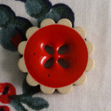 Red / Flower / Shiny Button