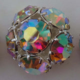 Metallic /  Full Ball / Diamante AB (Aurora Borealis)