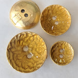 Gold and resin / ABS Metal Coated / Concave