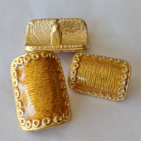 Gold and resin / ABS Metal Coated / Convex