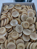 Natural / Vegetable Ivory / Deep Indent / 4 Hole