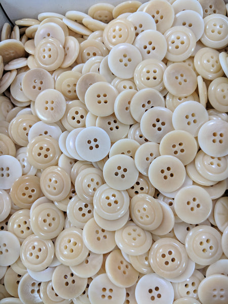 Natural / Vegetable Ivory / Rim & Dome / 4 Hole