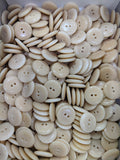 Natural / Vegetable Ivory / Disc / 2 Hole