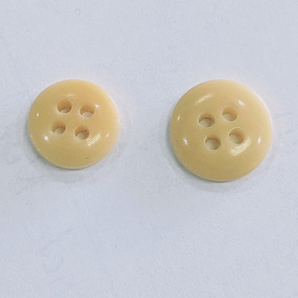 Natural / Vegetable Ivory / Disc / 4 Hole