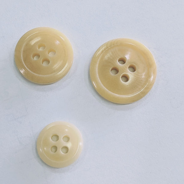 Natural / Vegetable Ivory / Rim / 4 Hole