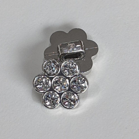 Silver / Flower / Diamante
