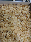 Natural / Vegetable Ivory / Shirt Button / 4 Hole