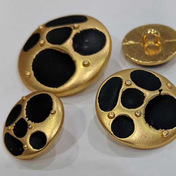 Gold / Black Splotches