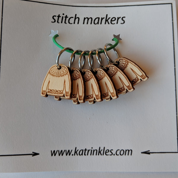 Ring Stitch Markers / Bamboo