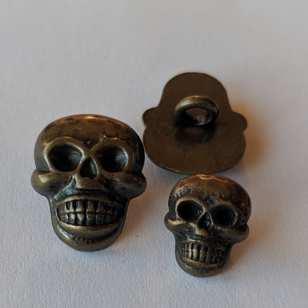 Skull / Antique Brass / Shank