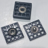Snap fasteners / Decorative / Black / Square