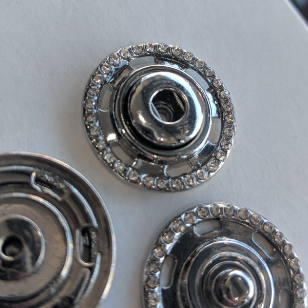 Snap fasteners / Decorative / Diamante