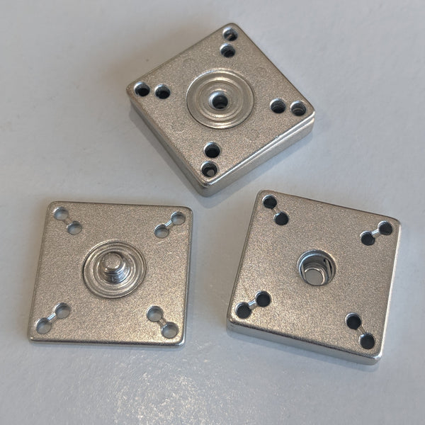 Snap fasteners / Decorative / Silver / Square
