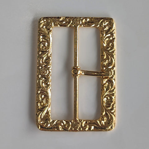 Decorative Rectangle Gold Buckle / Metal