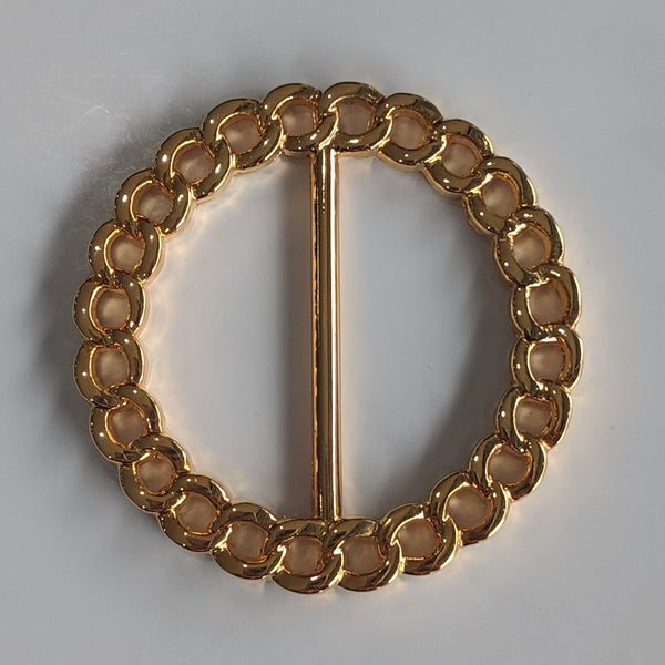 Decorative Round Gold Buckle / Metal