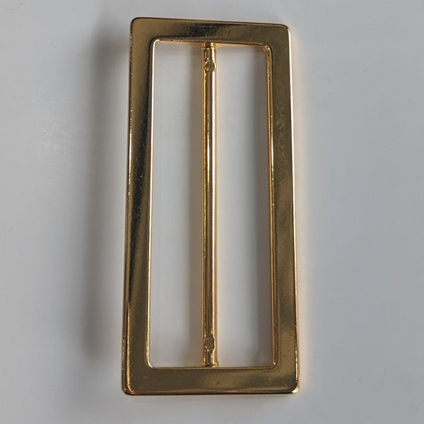 Large Gold Buckle / Metal / Rectangle