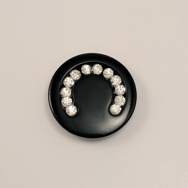 Black / Round / Diamantes / Shiny