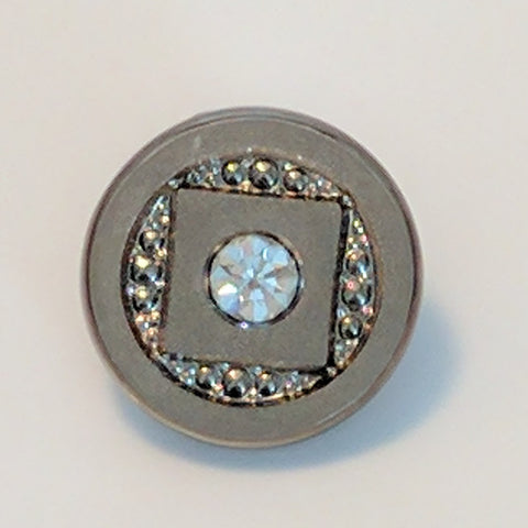 Silver / Glass / Diamante Centre