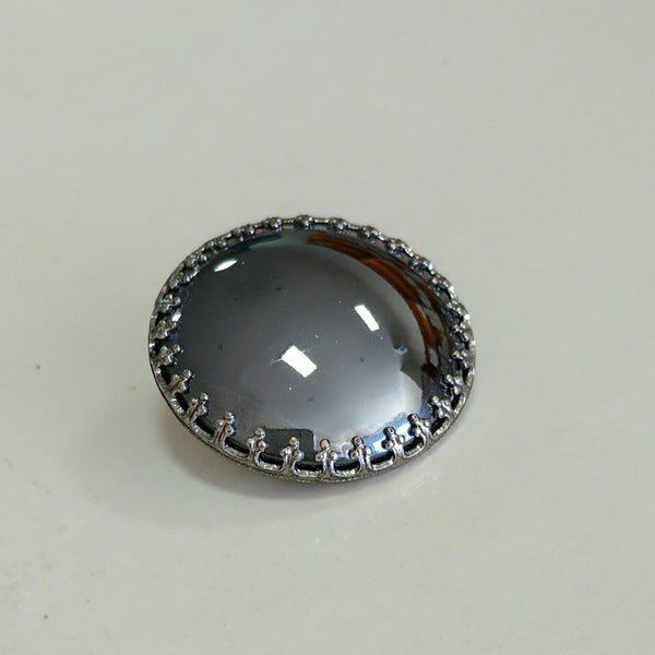 Gunmetal / Round / Glass