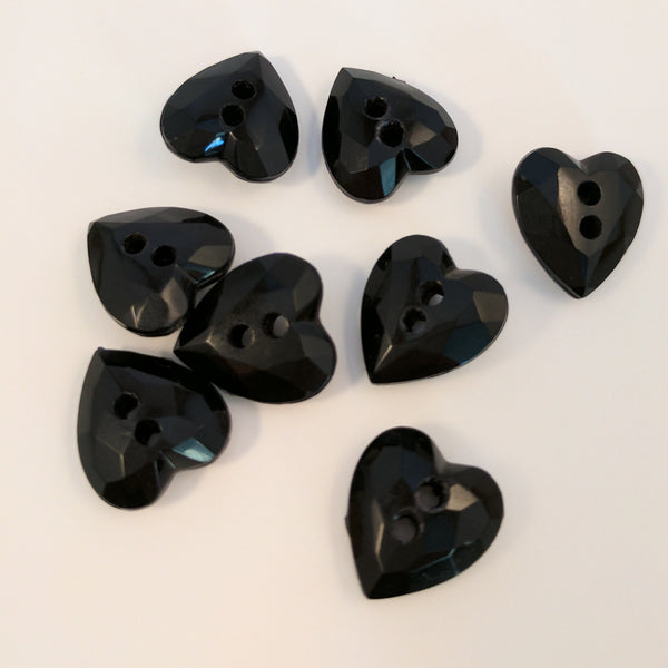 Black / Love heart / Shiny