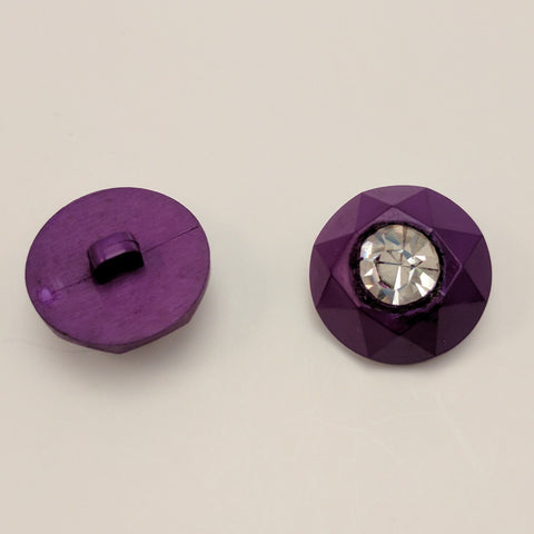 Purple / Diamante Centre / Faceted edge