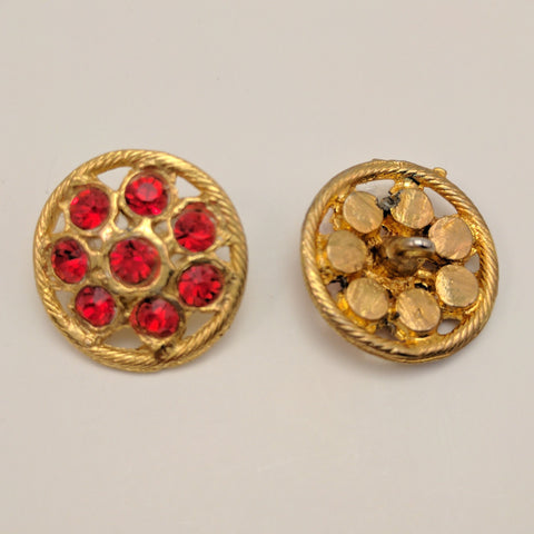 Gold / Red Diamantes