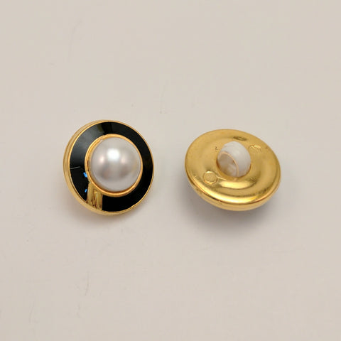 Gold / Black Ring / Pearl Centre Dome