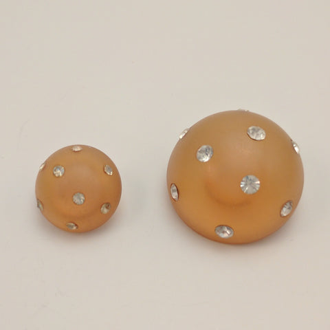 Orange /  Full Ball / Semi-Opaque with Diamantes