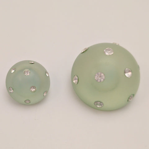 Green /  Full Ball / Semi-Opaque with Diamantes