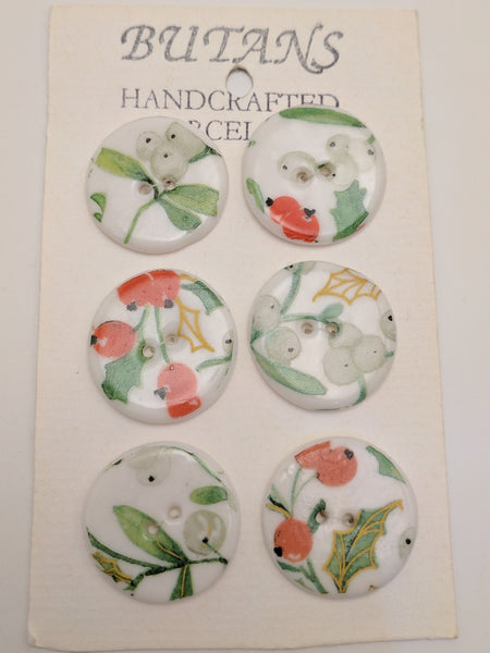 White / Holly / Porcelain (card of 6)
