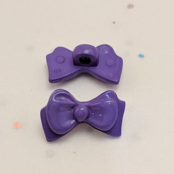 Purple Bow - Plastic Shank