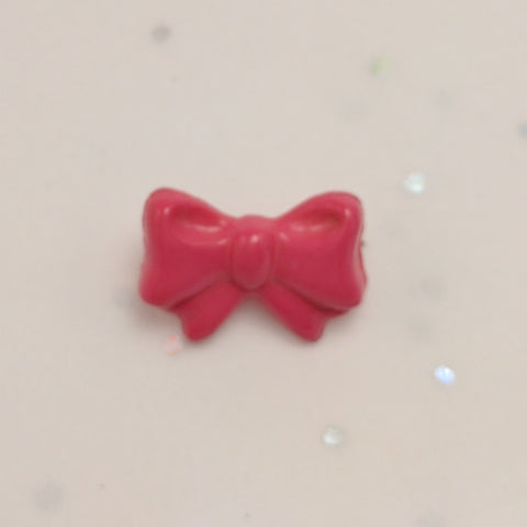 Hot Pink Bow - Plastic Shank