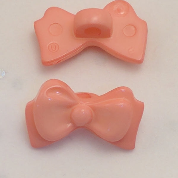 Light Pink Bow - Plastic Shank