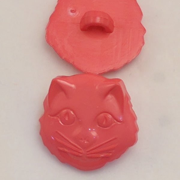 Cat Face / Pink / Plastic Shank