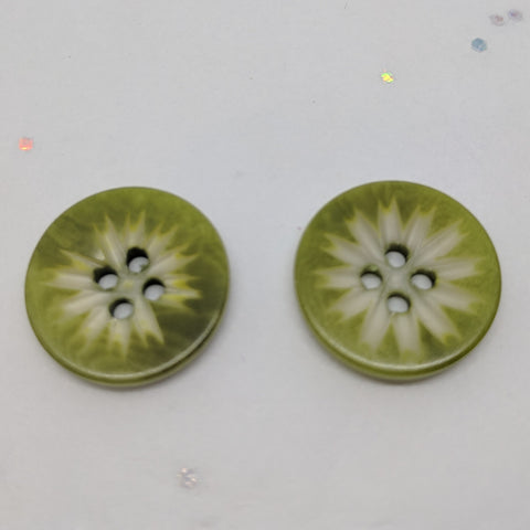 Green Carved Corozo / 4 Hole