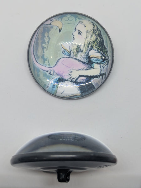 Alice In Wonderland / Alice with Flamingo / Acrylic Dome
