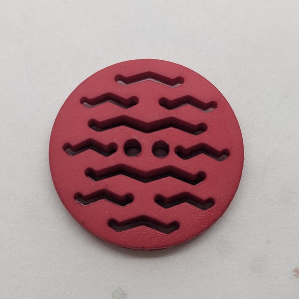 Red / Matte / Laser Cut Detail / 2 Hole